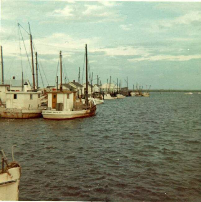 Buyboats Andy D & Capt Vernon at Saxis Va in 1964