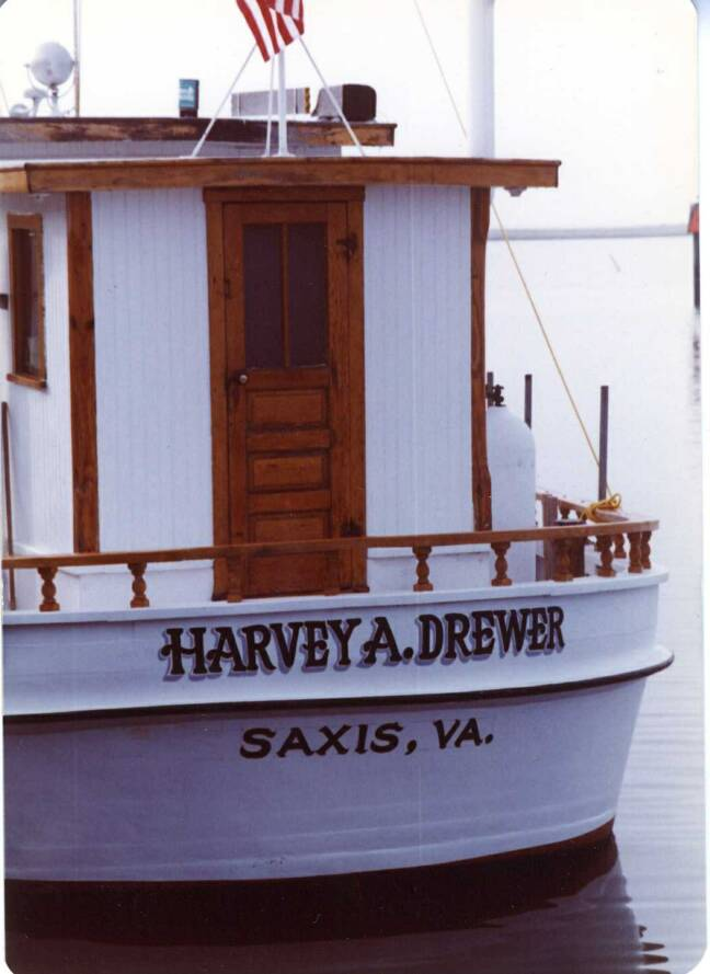 Oyster Buyboat Harvey A Drewer at Saxis, VA
