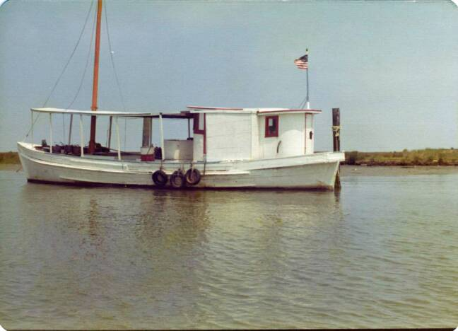 Oyster Buyboat Unknown at tangier Island in July 1976